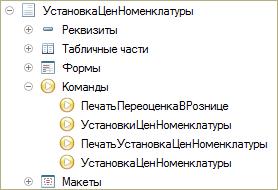 Команды документа