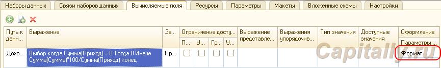 Вычисляемые параметры СКД 2